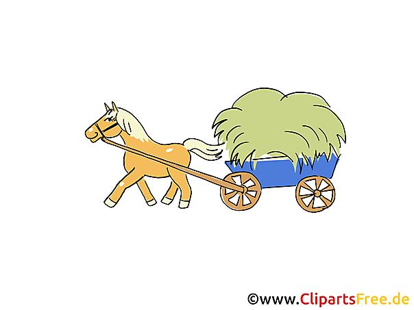 Pferdefuhrwerk Bauernhof Bilder, Cliparts, Cartoons