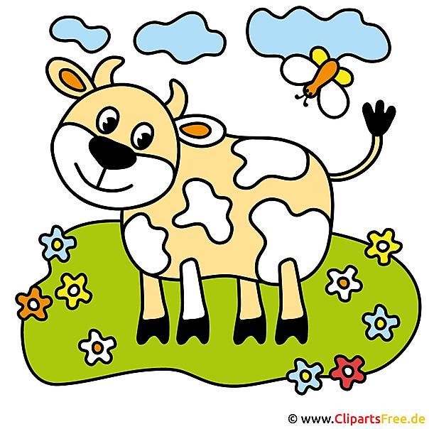 牛画像クリップアート - 農場画像