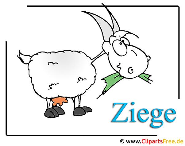 Ziege Clipart-Bild Bauernhof Cliparts free