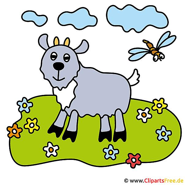 ヤギのクリップアート画像無料