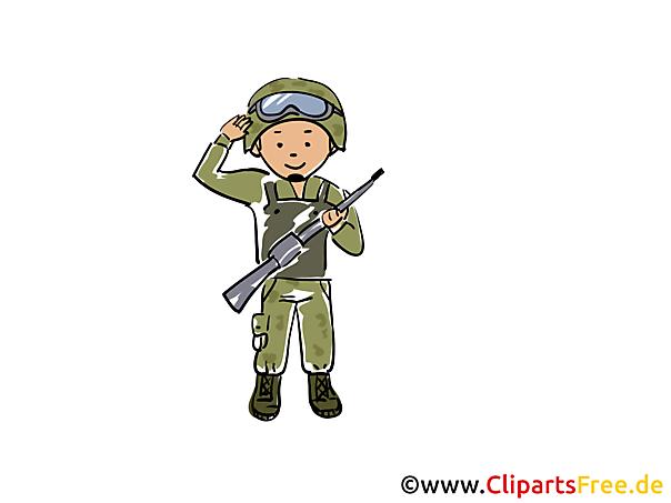 軍のクリップアート無料