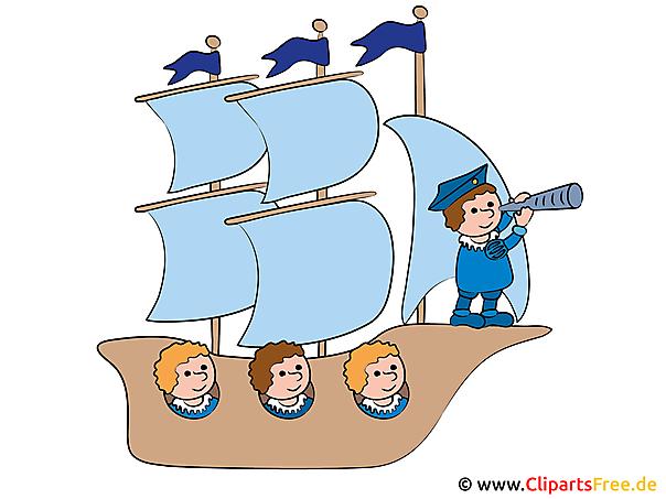 クリップアートピクチャー - 帆船