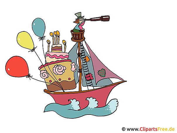 帆船の漫画画像