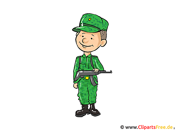 Soldat Bild, Clipart, Cartoon, Illustration kostenlos