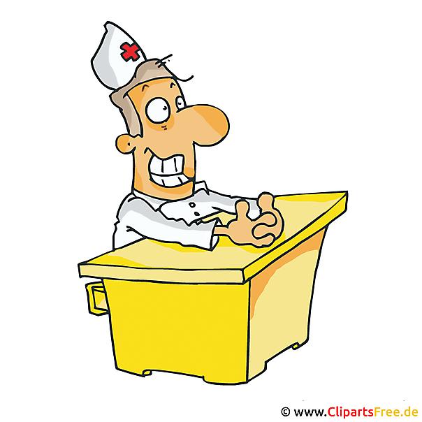 Arzt Clipart, Bild, Cartoon kostenlos