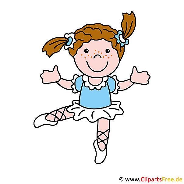 Ballerina Bild, Cartoon, Clipart free