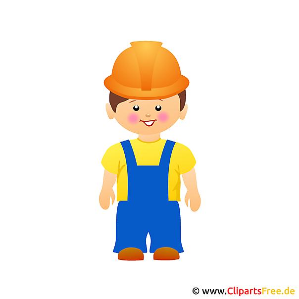 Bauarbeiter Cartoon Clipart gratis