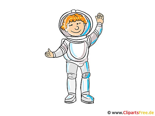 職業の写真 - 宇宙飛行士クリップアート