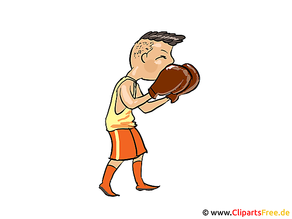 Boxer, Training, Boxstellung Bild, Clipart, Cartoon
