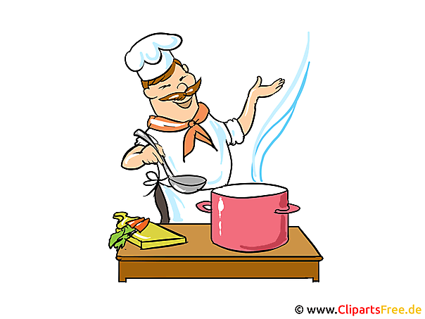 Koch bei der arbeit clipart  Cartoon Koch Clipart, Bild, Image