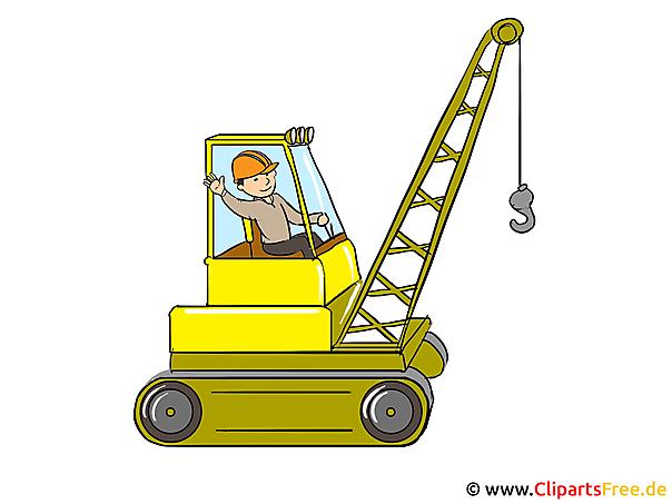 Clipart Bagger, Baustelle, Baumeister