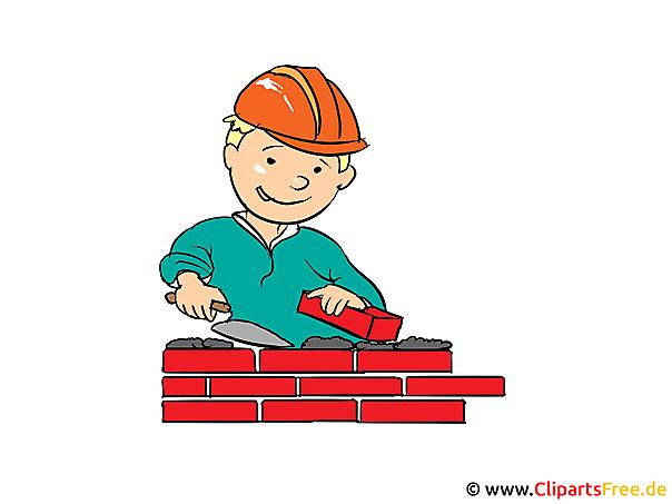 Clipart Bauarbeiter, Baumeister, Baustelle gratis