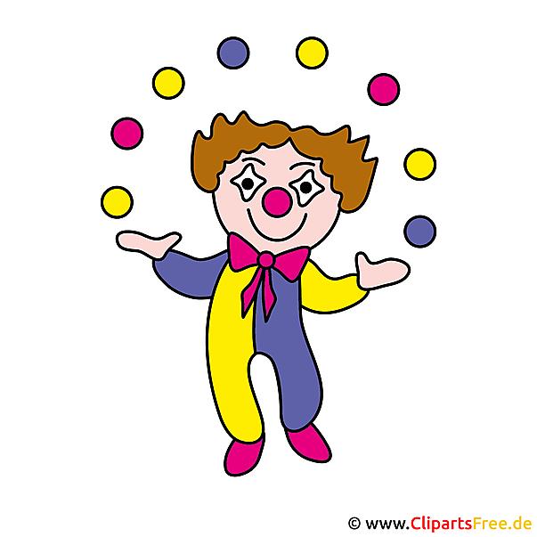Clown Clipart-Bild - Berufe Bilder