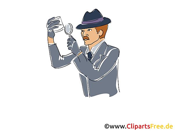 Detektiv bei der Arbeit Bildillustration