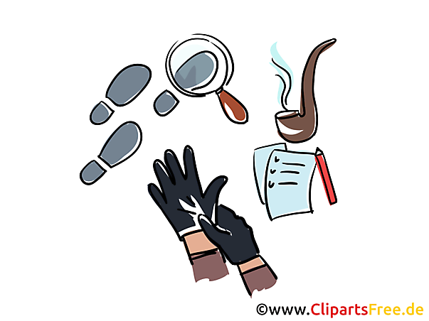 Detektiv Illustrationen gratis