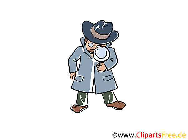 探偵イラストとクリップアート