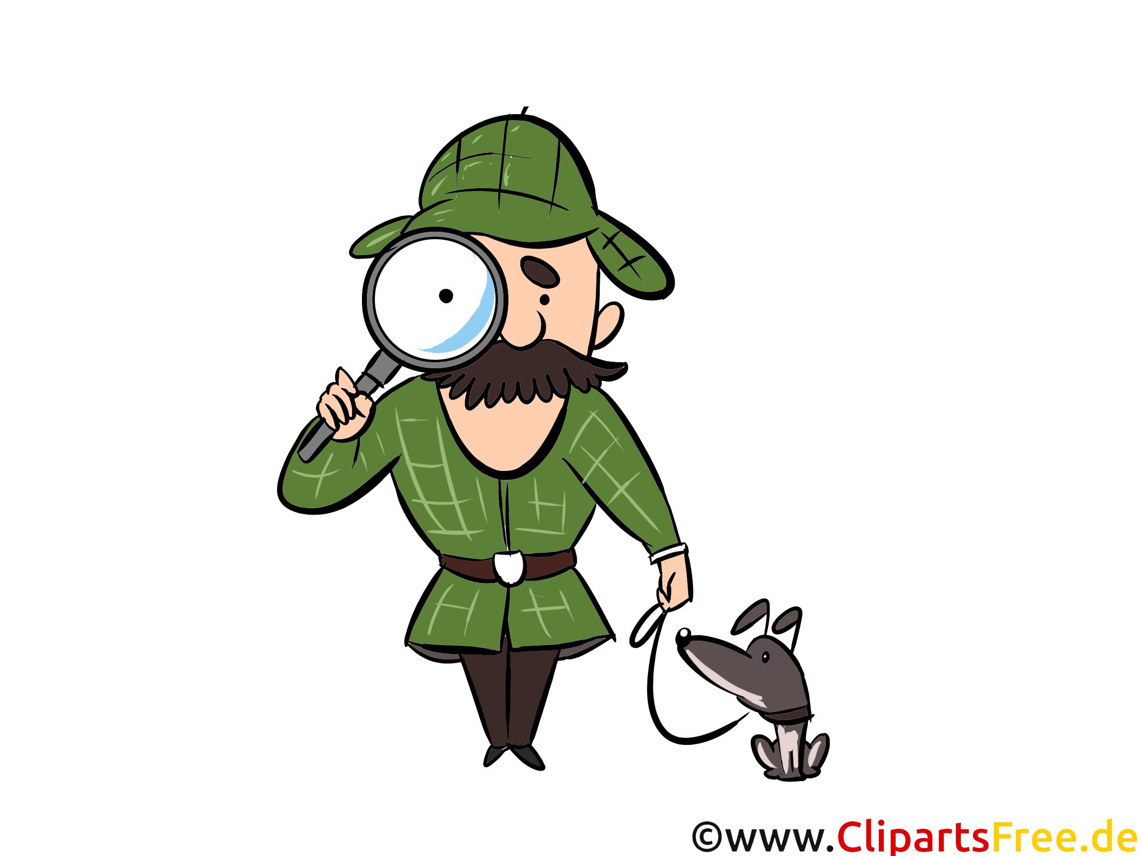 Animationsfigur Detektiv Cliparts, Bilder, Cartoons, Comis