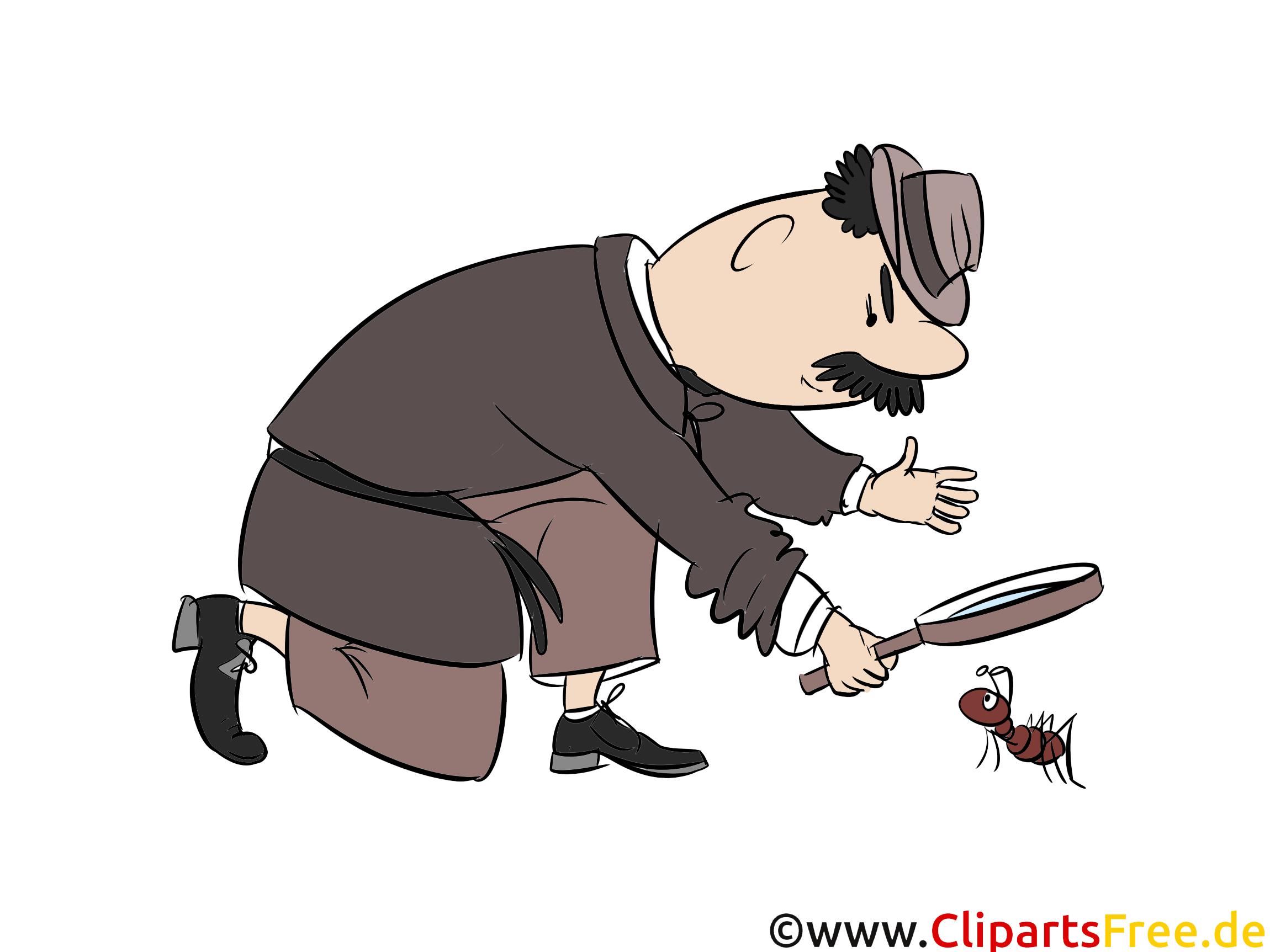 漫画探偵とアリ - 無料イラスト職業