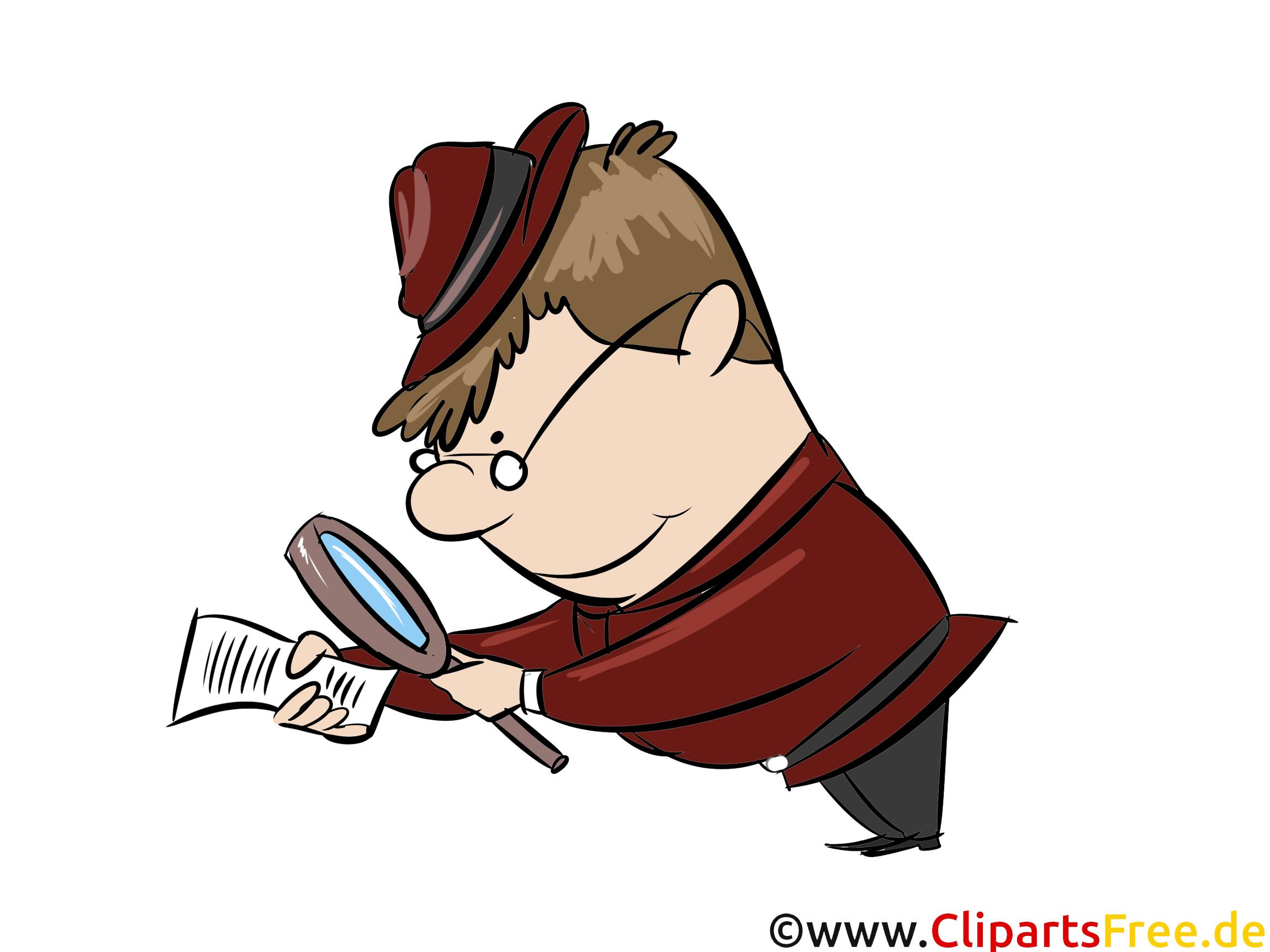 Illustration Untersuchen, Detektiv, Polizei