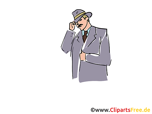 Ermittler Clipart, Stock Illustration, Grafik, Bild