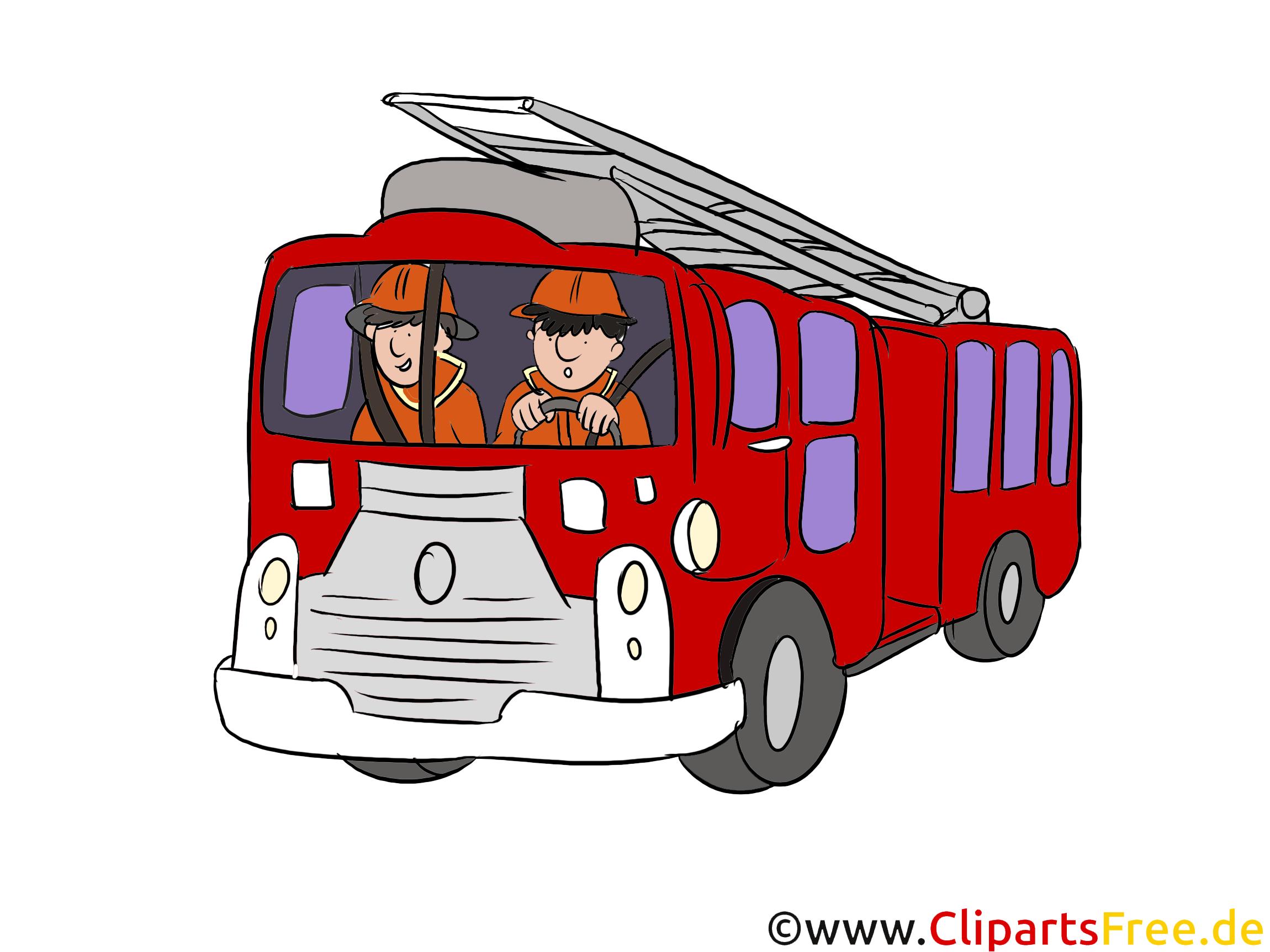 消防署の緊急車両図、クリップアート、絵