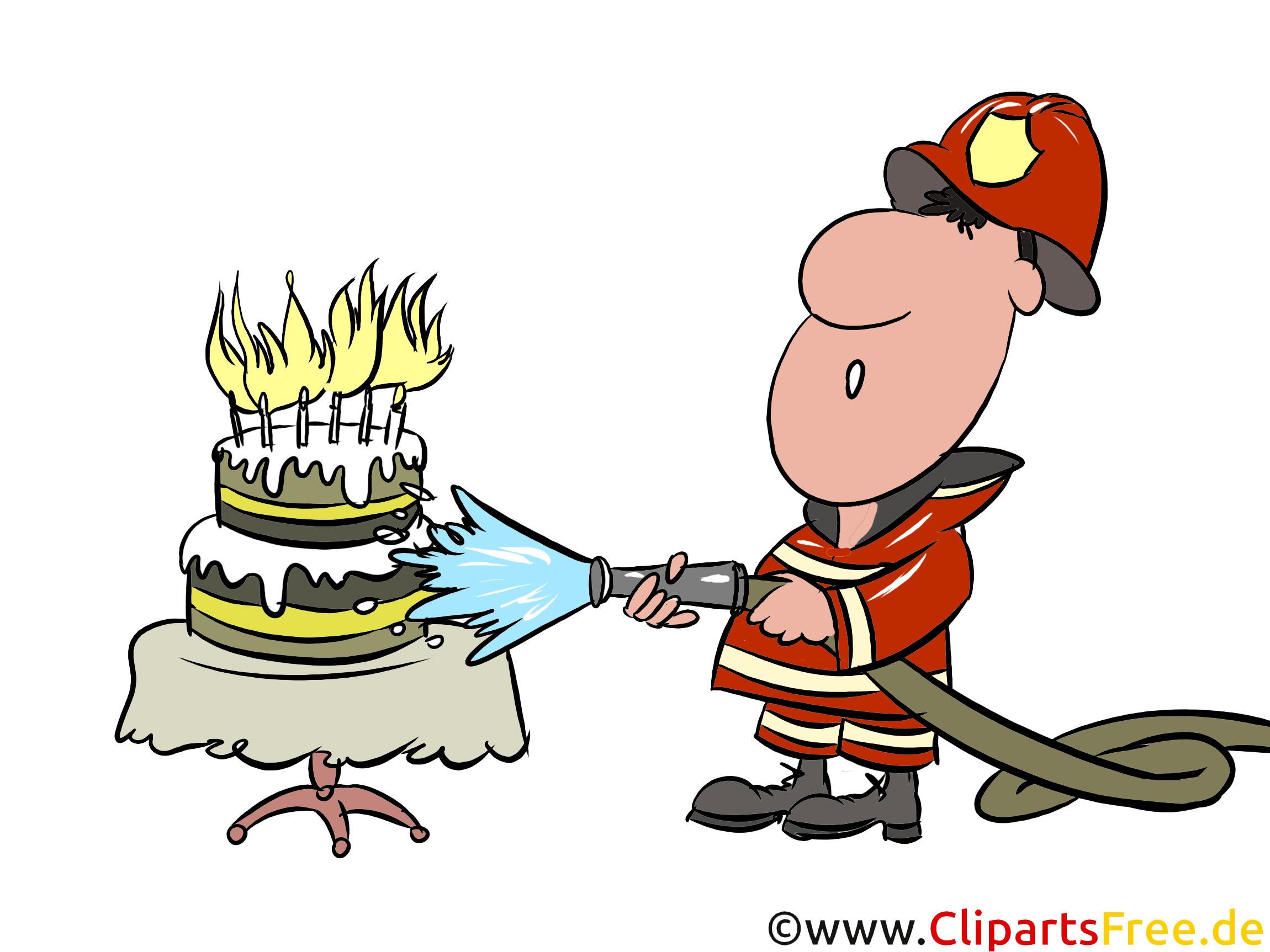 Feuerwehrmann Mit Wasserschlauch Illustration Bild Clipart Gratis