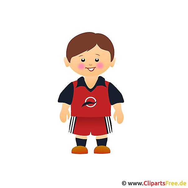 サッカー選手のイメージクリップアート