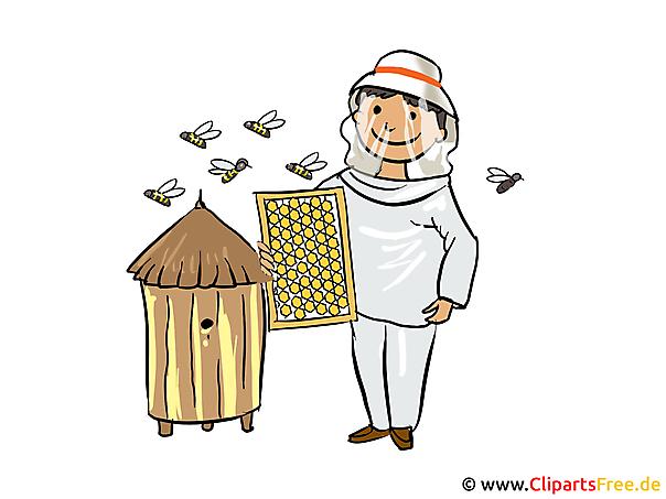 Imker Bild, Clipart, Illustration, Cartoon gratis