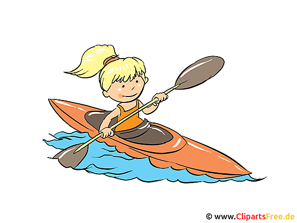 Kanu fahren Bild, Clipart, Cartoon gratis