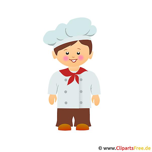 Koch bei der arbeit clipart  Koch Cartoon Clipart kostenlos