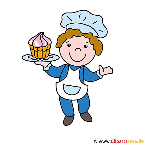 Gebakjechef-kok illustraties en clipart