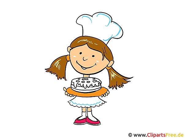 Konditorei Clipart, Bild, Cartoon gratis
