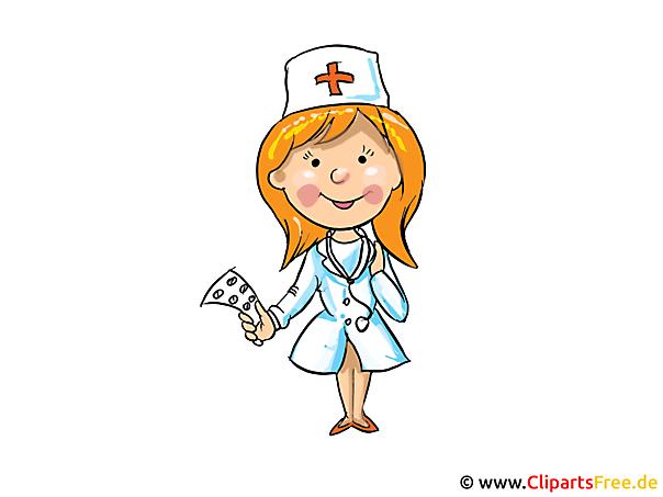 看護師画像、クリップアート、漫画、無料イラスト