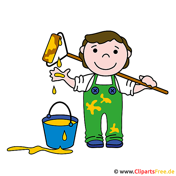 Malermeister Cartoon Clipart