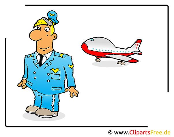 パイロット画像クリップアート無料