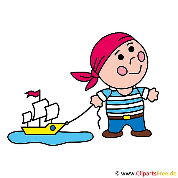 無料の海賊クリップアート画像