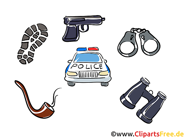 Police work clip art, images, pics
