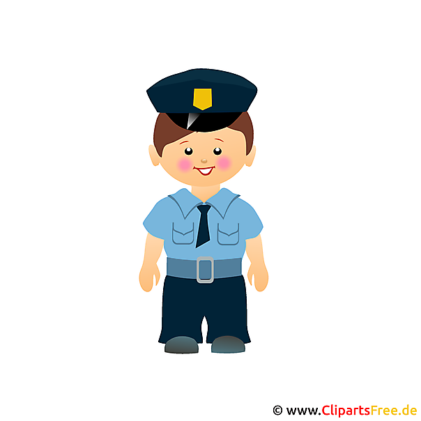 Polizei Cartoon Clipart gratis