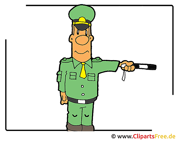 警官クリップアート画像無料