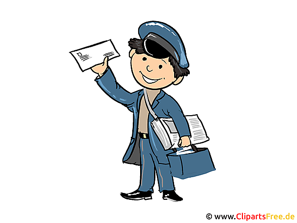 Postbote Bild, Cartoon, Illustration, Clipart