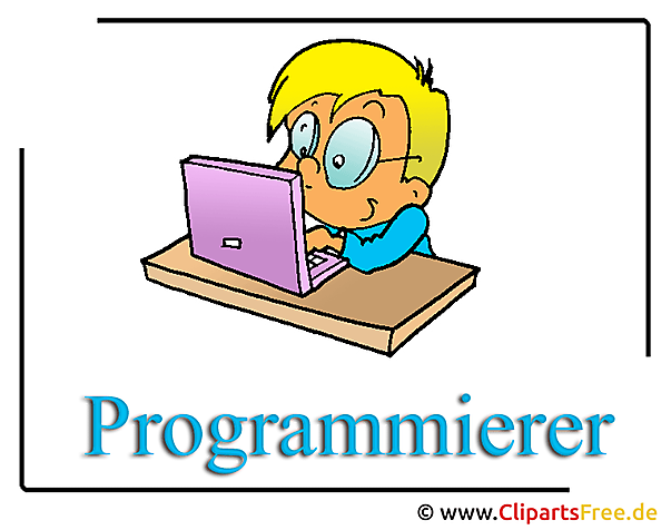 Programmierer Clipart-Illustration free