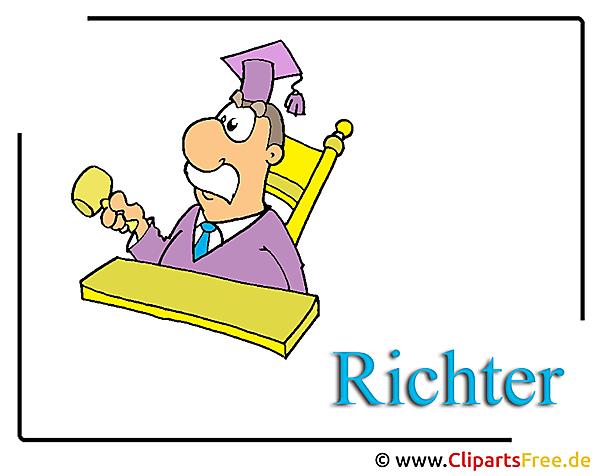 無料の裁判官漫画のクリップアート画像