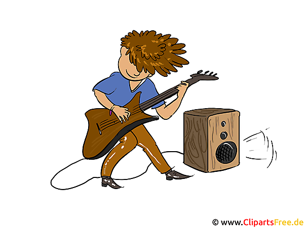 Rock Musiker Clipart, Bild, Illustration, Cartoon