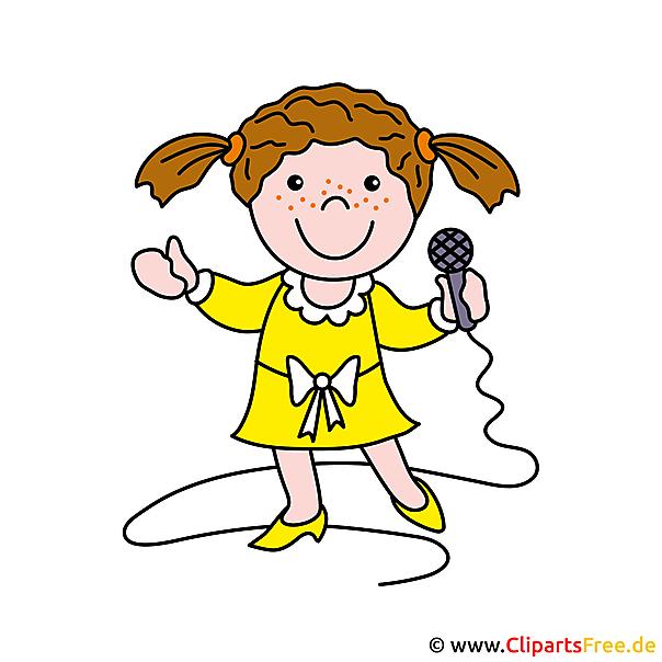 無料の歌手クリップアート画像