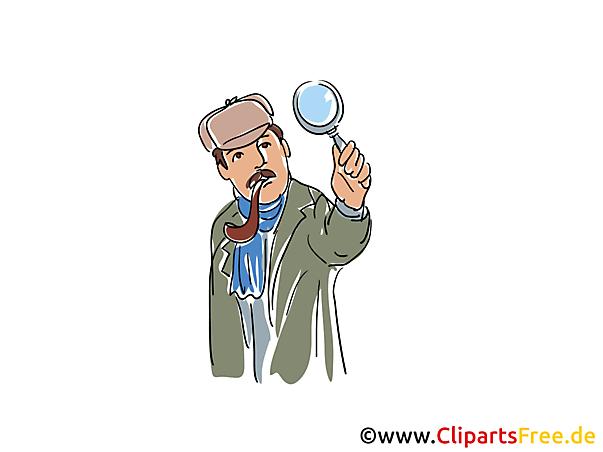 Sherlock Holmes Bild, Buchillustration, Cartoon