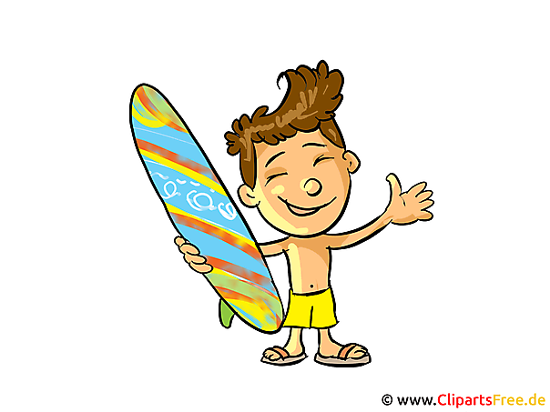 Surfer Clipart, Bild, Cartoon gratis