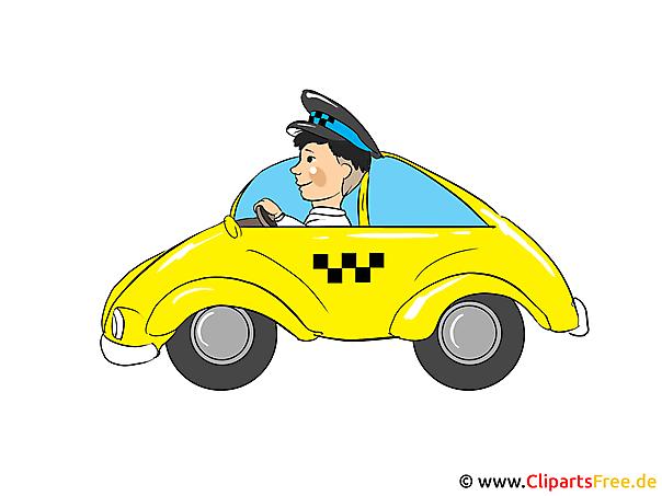 タクシークリップアート、画像、漫画、無料イラスト