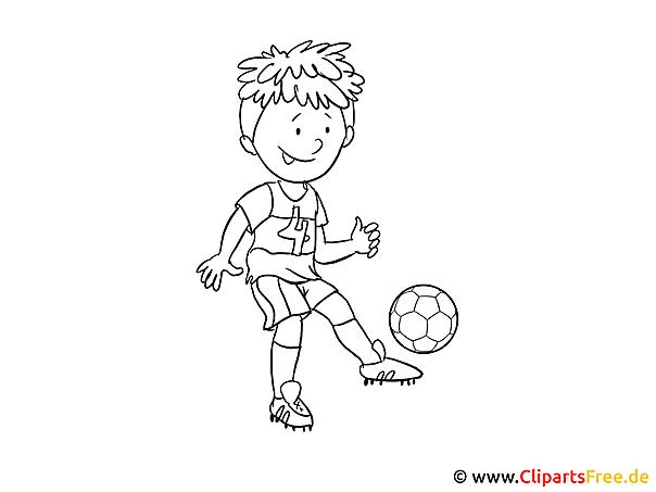 Voetbalfoto om in te kleuren