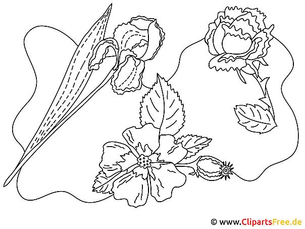 Gratis Ausmalbilder Blumen