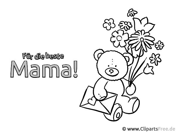 Lustige bilder zum Ausmalen zum Muttertag